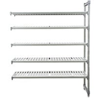 Cambro EA182484V5580 Camshelving® Elements 5 Shelf Vented Add On Unit - 18 inch x 24 inch x 84 inch