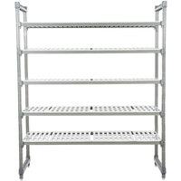 Cambro ESU247284V5580 Camshelving® Elements Vented 5-Shelf Stationary Starter Unit - 24 inch x 72 inch x 84 inch