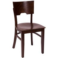 BFM Seating SWC304CW-CW Weston Classic Walnut Colored Beechwood Side Chair