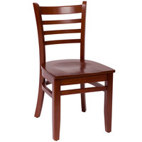 BFM Seating LWC101MHMHW Burlington Mahogany Colored Beechwood Side Chair