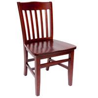 BFM Seating SWC303RM-RM Columbia Royal Mahogany Colored Beechwood Side Chair