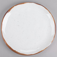 GET CS-9-RM Rustic Mill 9 inch Irregular Round Coupe Plate - 12/Case