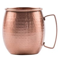 Clipper Mill by GET CPRMUG-02 14 oz. Moscow Mule Mug with Hammered Copper Finish