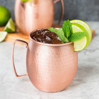 Clipper Mill by GET CPRMUG-02 14 oz. Hammered Copper Moscow Mule Mug