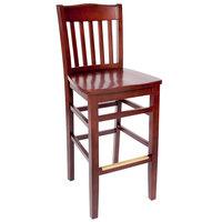 BFM Seating SWB303RM-RM Columbia Royal Mahogany Colored Beechwood Bar Height Chair