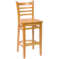 BFM Seating LWB101NTNTW Burlington Natural Colored Beechwood Bar Height Chair