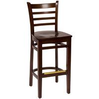 BFM Seating LWB101WAWAW Burlington Walnut Colored Beechwood Bar Height Chair