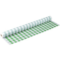 Atlantis Plastics 2TCG300-GING 300' Green Gingham Plastic Table Cover