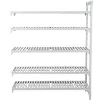 Cambro CPA183064V5480 Camshelving® Premium 5 Shelf Vented Add On Unit - 18 inch x 30 inch x 64 inch