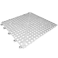 Cactus Mat 2554-WT Dri-Dek 12 inch x 12 inch White Vinyl Interlocking Drainage Floor Tile - 9/16 inch Thick
