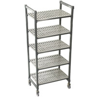 Cambro Camshelving Premium CPMS184267V5480 Mobile Shelving Unit with Standard Casters 18 inch x 42 inch x 67 inch - 5 Shelf