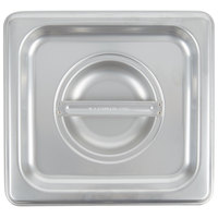 Choice 1/6 Size Stainless Steel Solid Steam Table / Hotel Pan Cover