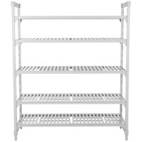 Cambro CPU242472V5480 Camshelving® Premium Shelving Unit with 5 Vented Shelves - 24 inch x 24 inch x 72 inch