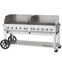 Crown Verity MCB-72WGP Liquid Propane 72 inch Mobile Outdoor Grill with Wind Guard Package