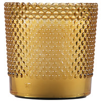 Sterno Products 60184 Hobnail 3 1/2 inch Amber Flameless Wax Filled Glass Lamp - 4/Case
