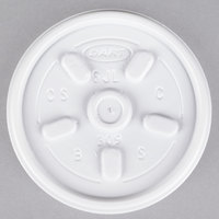 Dart Solo 6JL White Vented Lid - 100/Pack