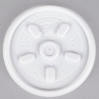 Dart 6JL White Vented Lid - 100/Pack