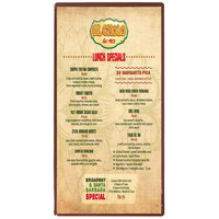 Menu Solutions H500B CHOC Hamilton 5 1/2 inch x 11 inch Single Panel Two View Chocolate Menu Board