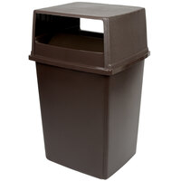 Rubbermaid Glutton 56 Gallon Brown Trash Can and Lid with Doors