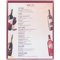 Menu Solutions H500E WINE Hamilton 10 inch x 12 1/2 inch Single Panel Two View Wine Menu Board