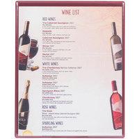 Menu Solutions H500E WINE Hamilton 10 inch x 12 1/2 inch Single Panel Two View Wine Menu Board