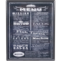 Menu Solutions H500E BLACK Hamilton 10 inch x 12 1/2 inch Single Panel Two View Black Menu Board