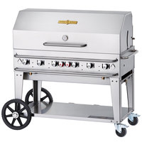 Crown Verity RCB-48RDP Liquid Propane 48 inch Pro Series Outdoor Rental Grill with Roll Dome Package