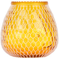 Sterno Products 40132 Euro-Lowboy 45 Hour Amber Wax Filled Glass Candle   - 12/Case