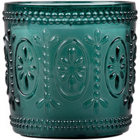 Sterno Products 60190 Amelia 3 1/2 inch Teal Flameless Wax Filled Glass Lamp - 4/Case