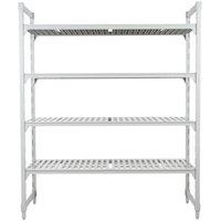 Cambro CPU182484V4PKG480 Camshelving Premium Shelving Unit with 4 Vented Shelves - 18 inch x 24 inch x 84 inch