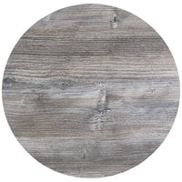 BFM Seating DW30R Midtown 30 inch Round Indoor Tabletop - Driftwood