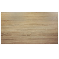 BFM Seating SO3072 Midtown 30 inch x 72 inch Rectangular Indoor Tabletop - Sawmill Oak Finish