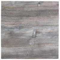 BFM Seating DW2424 Midtown 24 inch Square Indoor Tabletop - Driftwood