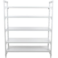 Cambro CPU184284S5PKG Camshelving® Premium Solid 5-Shelf Stationary Starter Unit - 18 inch x 42 inch x 84 inch