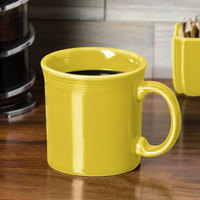 Homer Laughlin 570320 Fiesta Sunflower 12 oz. China Java Mug - 12/Case