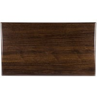 BFM Seating TTRS3072WA Resin 30 inch x 72 inch Rectangular Indoor Tabletop - Walnut