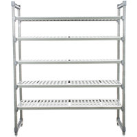 Cambro Camshelving Elements ESU244864V5580 Vented 5 Shelf Stationary Starter Unit - 24 inch x 48 inch x 64 inch