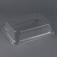 Durable Packaging P6700-100 3 inch Clear Dome Lid for 14 1/2 inch x 10 5/8 inch Foil Roast Pan - 100/Case