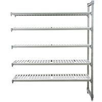 Cambro EA182472V5580 Camshelving® Elements 5 Shelf Vented Add On Unit - 18 inch x 24 inch x 72 inch