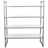 Cambro Camshelving Elements ESU244264S4580 Solid 4-Shelf Stationary Starter Unit - 24 inch x 42 inch x 64 inch