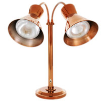 Hanson Heat Lamps DLM/300/ST/SC Smoked Copper Flexible Dual Bulb Freestanding Heat Lamp