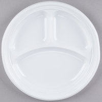 Dart 9CPWF 9 inch White 3 Compartment Famous Service Impact Plastic Plate - 500/Case