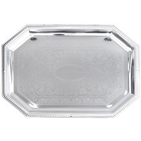 Vollrath 47263 Odyssey 20 inch x 13 3/4 inch 8-Sided Chrome Plated Tray