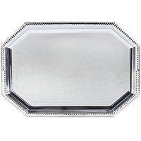 Vollrath 47261 Odyssey 17 1/8 inch x 10 inch 8-Sided Chrome Plated Tray