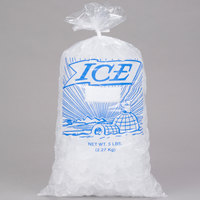 5 lb. Clear Plastic Ice Bag with Igloo Graphic - 1000/Bundle