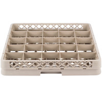 Vollrath TR13B-32 Traex® Low Profile Full-Size Beige 25-Compartment 2 1/16 inch Glass Rack with 1 Extender