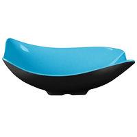 GET ML-219-BL/BK Brasilia 1.9 Qt. Blue and Black Flare Melamine Bowl - 3/Case