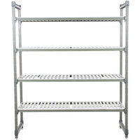 Cambro Camshelving Elements ESU247284V4580 Vented 4 Shelf Stationary Starter Unit - 24 inch x 72 inch x 84 inch