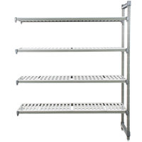 Cambro EA183084V4580 Camshelving® Elements 4 Shelf Vented Add On Unit - 18 inch x 30 inch x 84 inch