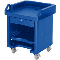 Cambro VCSHD186 Navy Blue Versa Cart with Heavy Duty Casters